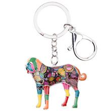 Bonsny эмаль Saint Bernard Dog брелок для Женский брелок для сумки брелок для ключей Мужской автомобиль ювелирный держатель ключей аксессуары(Китай)