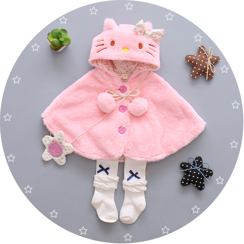 winter warm baby coat fur newborn baby hooded jacket cartoon clothes