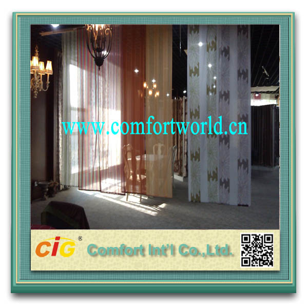 100% Polyester Embroidered Satin Fabric Curtain Tulle Fabric