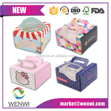 wholesale custom paper tall wedding moon cup cake box with handle