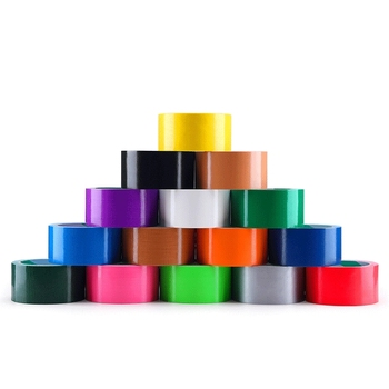 China wholesale adhesive cloth brown duct tape waterproof colorful decorative reinforced custom duct tape 50mm