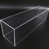 Simple design high clear long acrylic 5-sides display box