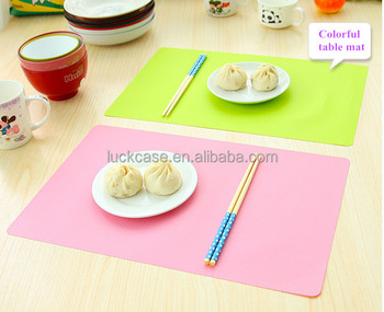 Custom Colorful Design Food Grade Silicone Anti grease Kid Table