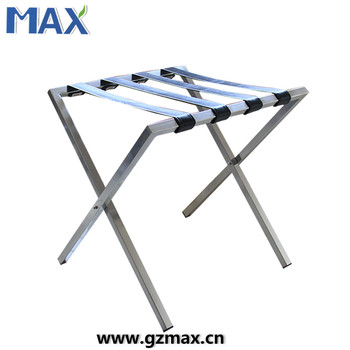 Superior Metal Portable Seating Folding Chrome Used Room Hotel Luggage Rack