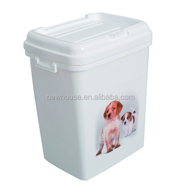 15kg 40l plastic pet food storage container dog puppy food container