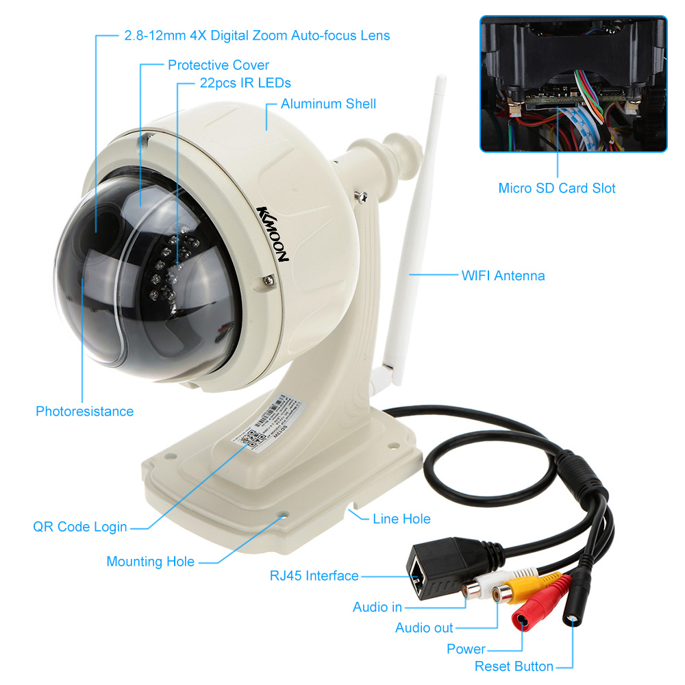 Auto tracking ptz ip camera wifi 720p video 5x optical - Camaras leroy merlin ...