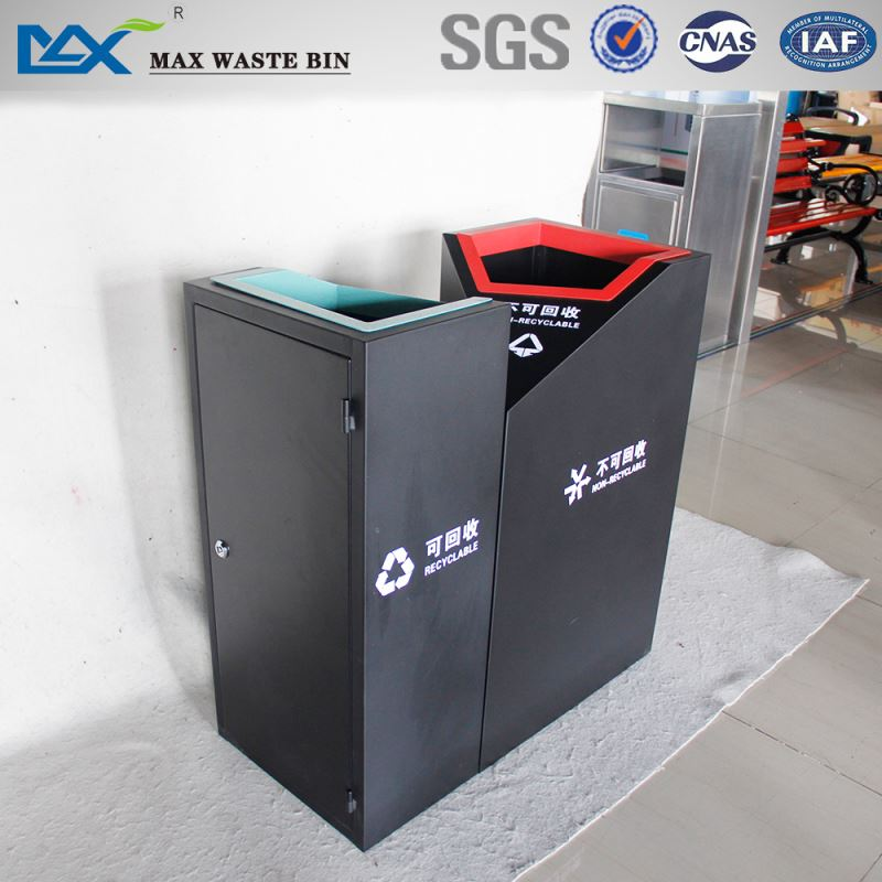 standing sun power high quality waste bin with scrolling light box in singapore