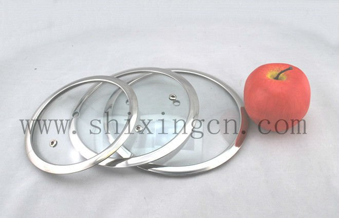 H type Toughened glass cover for cookware