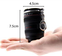 Best Selling Products Creative Camera Lens Shaped Double Wall Plastic Mini Beer Mug Shot Glass