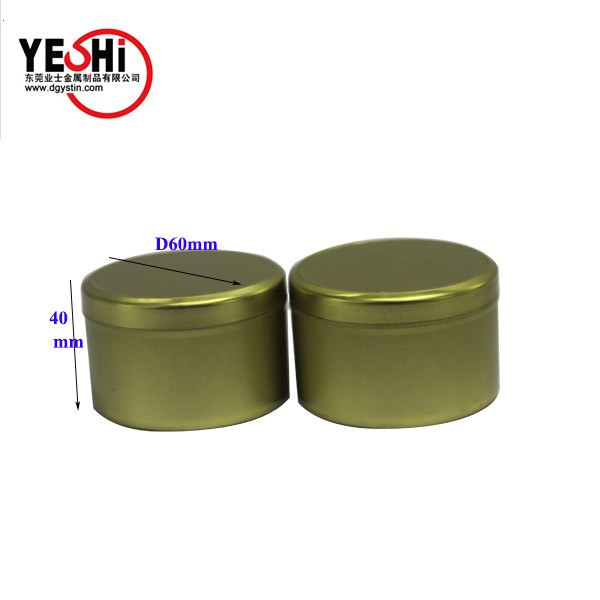 Small round tin candle tin containers with customized design printing on the lid