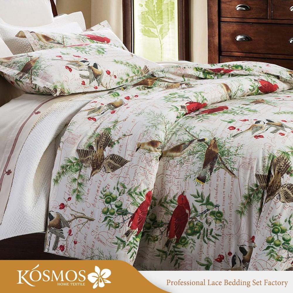 4pcs Best Selling Product New Pattern Four Seasons Fancy Design Cotton  200TC Cotton Bed Sheets