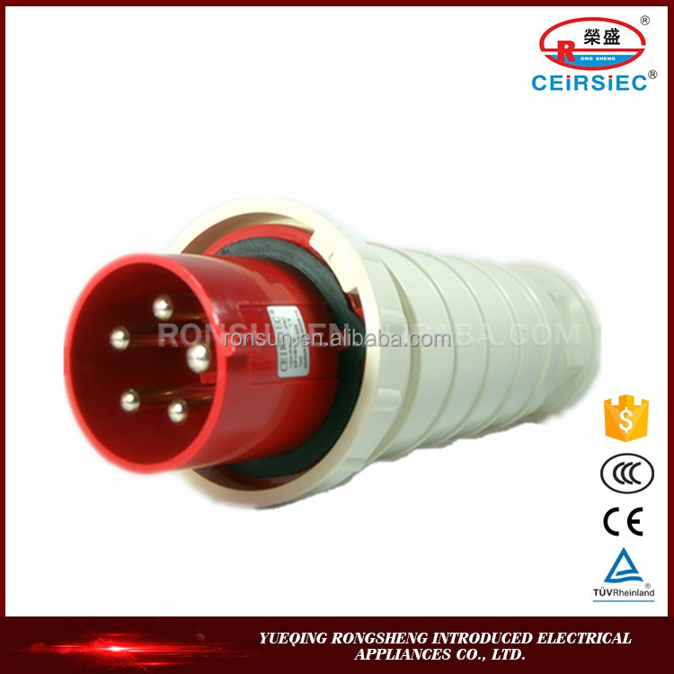 Industrial 63A 3P+N+E IP67 plug cover