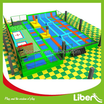 Manufacturing commercial big indoor trampoline fitness