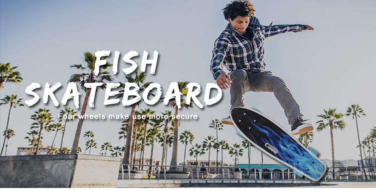 Cheap 4 Wheel fish Skateboard ABEC-7 Foot Skate Board Price