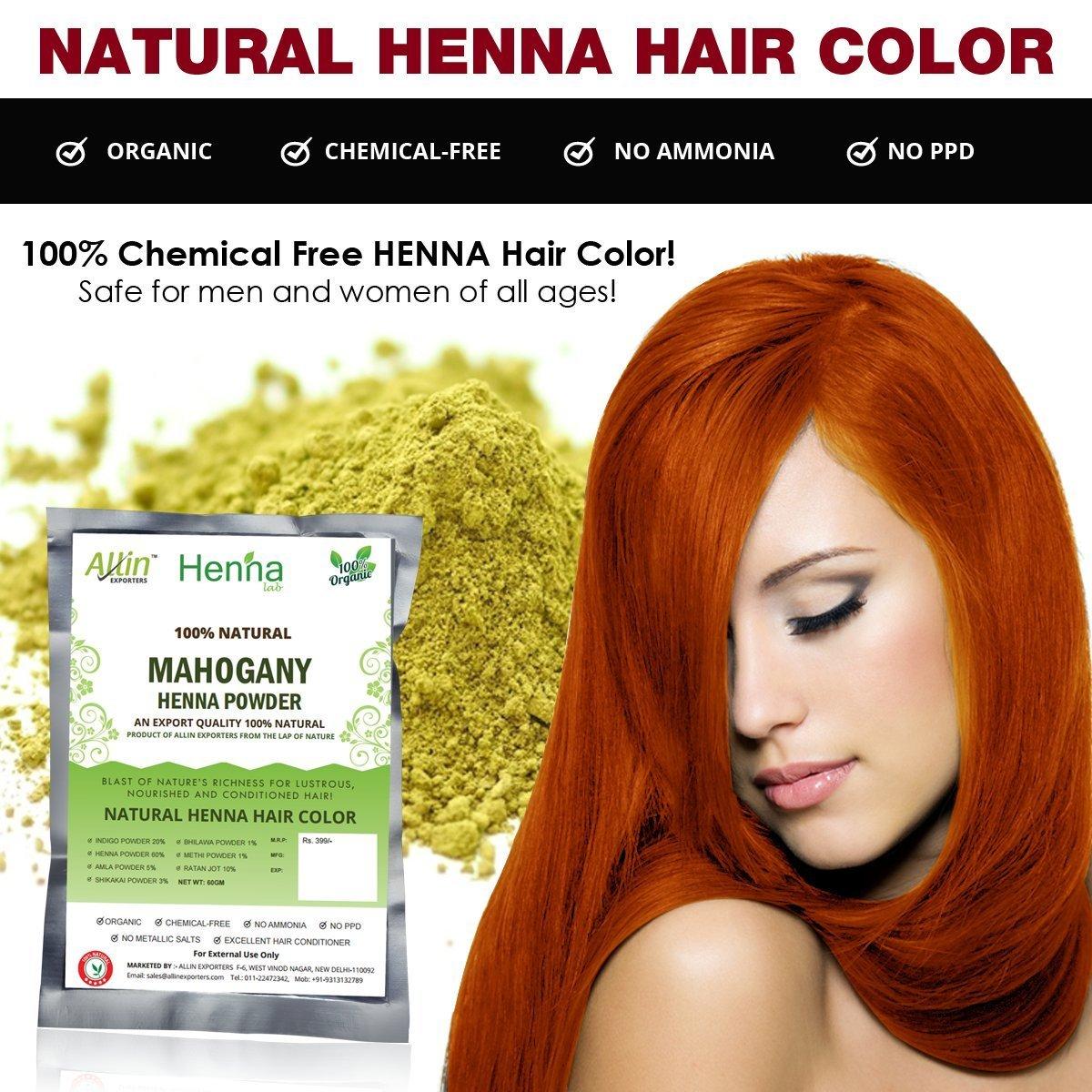 Buy Mahogany Henna Hair Color 100 Organic And Chemical Free Henna