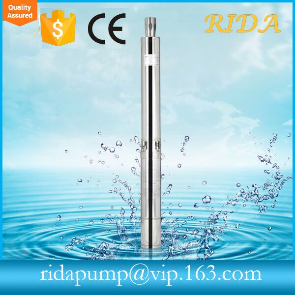 RIDA 220v 230v 240v 4SDM5 Stainless stell submersible water pump for two phase electric water pumps