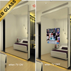 Hidden TV Mirror ,Mirror imaged glass for display machine, wall mounted tv Mirror Design EB GLASS BRAND