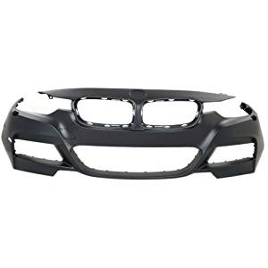 Make Auto Parts Manufacturing - 3-SERIES 13-16 FRONT BUMPER COVER, Primed, w/ M Sport Line, w/ HLW, w/o PDC, Sdn/Wgn - CAPA - BM1000290C