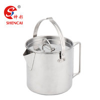 Stainless Steel Camping Pot Cooking Kettle