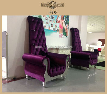 High Grade Fabric High Back Chairs For Living Room With Wood Frame