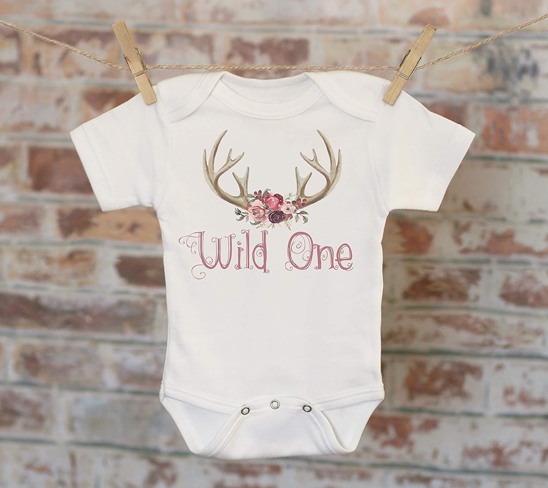 a7a33350c Wild One Woodland Style Onesie, First Birthday Onesie, Rustic Onesie, Cute  Onesie,