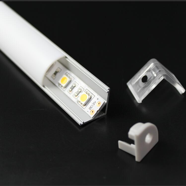 China Manufacturer High Quality 6063 Channel Corner LED Linear Light Aluminum Profile for Kitchen Cabinet