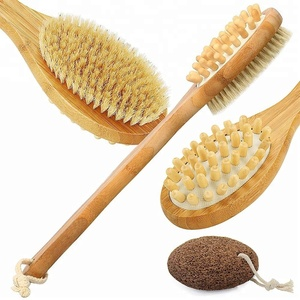 Long handle shower back bath massage brush
