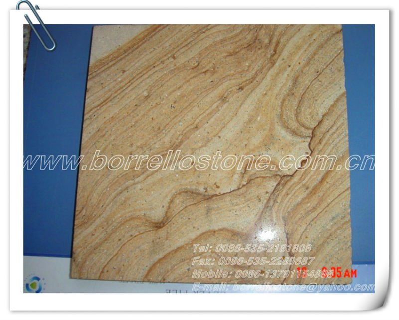 Yellow Wooden Vein Sandstone