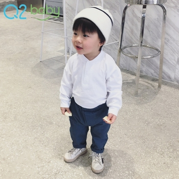 Spring infant boys clothing fashion leisure thin long sleeve baby girls t-shirt 2324