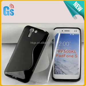 New 2015 S Line Soft Gel TPU Case For Asus PadFone S PF500KL Cover