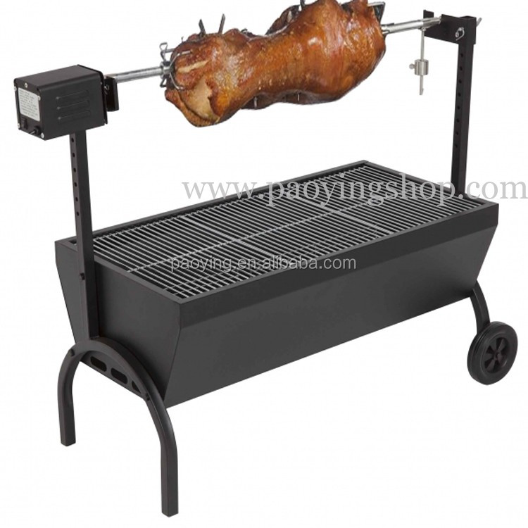 85cm Medium Chicken Gyro Charcoal BBQ Spit Rotisserie with 220v 240v 20kg Motor