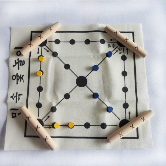 Korean Tranditional Wood Board Game Set / Yut Nori