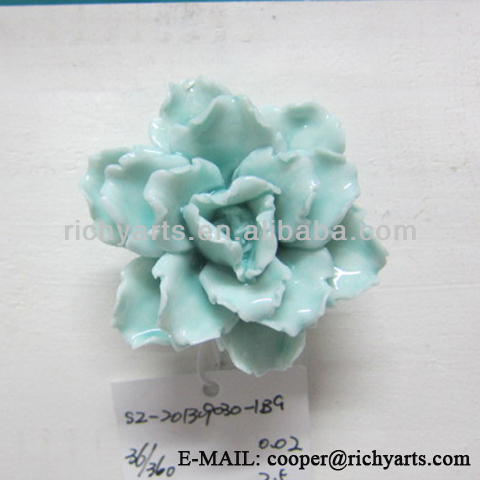 hot sale flower shape ceramic figurine for home decoration