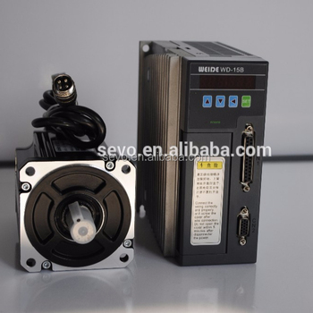 WD20B 2500ppr incremental encoder 400w electric ac servo motor and drive for cnc machine