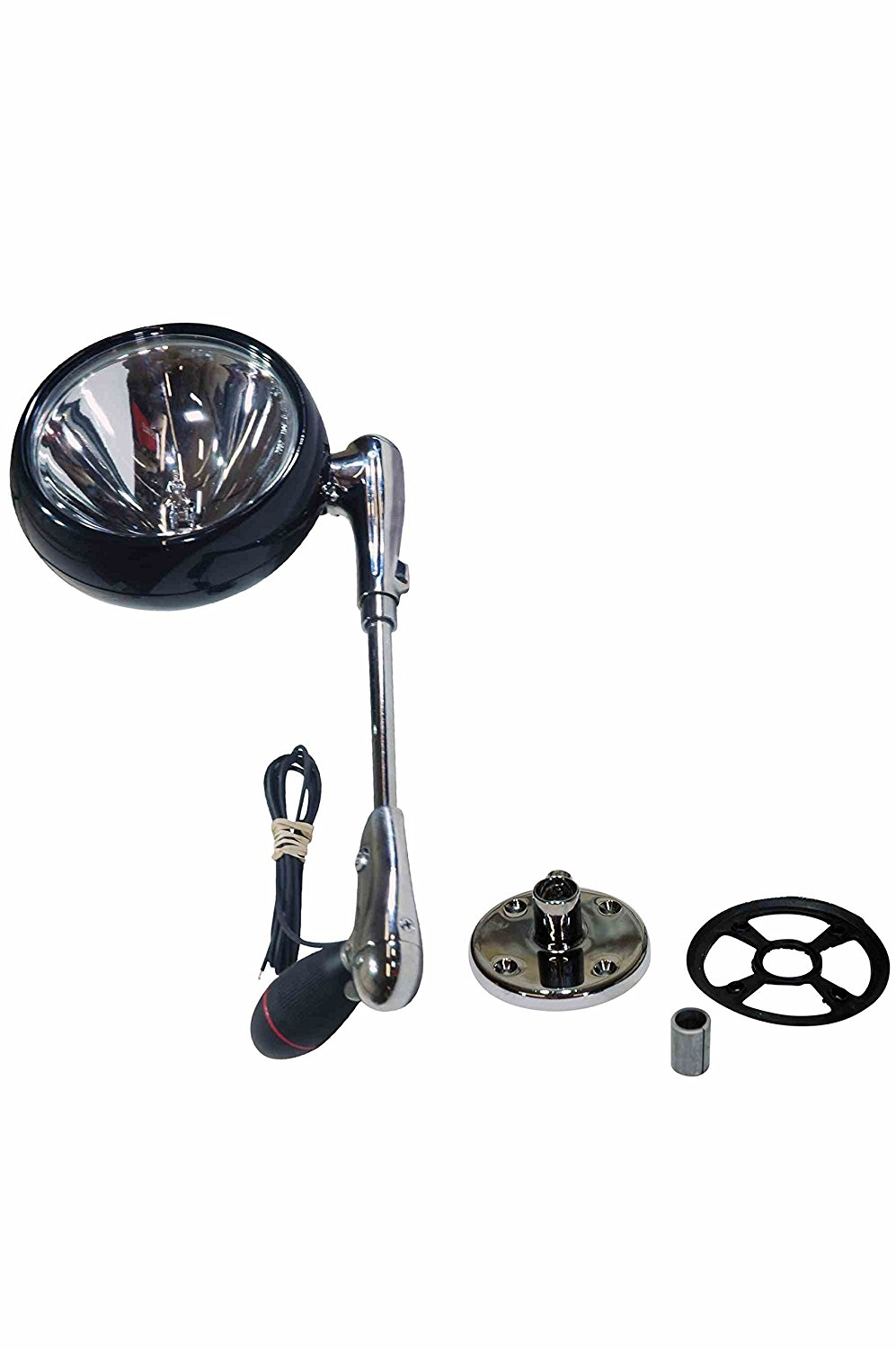 """Larson Electronics 0321OXAQ4AG 50W Roof Mount Spotlight RFM-7-50W with 10.25"""" from center of lamp to center of handle(-chrome-24V)"""