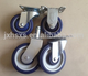 150mm swivel blue pu castor wheel american style caster