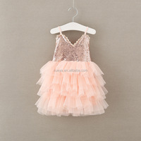 High quality wholesale fashion cute lovely sequins baby girl floral tutu dress