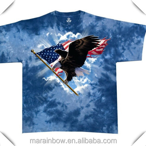 special design eagle American Flag sublimation printed mens short sleeve t shirts oem manufacturer in China