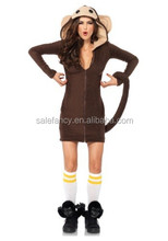 halloween costumes women cozy adult sexy monkey costume QAWC-2831