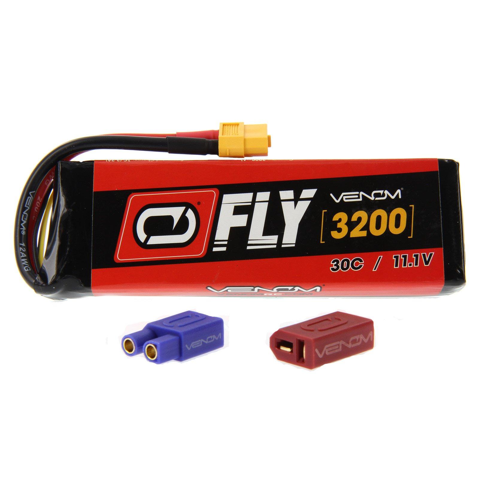 Venom Fly 30C 3S 3200mAh 11.1V LiPo Battery with UNI 2.0 Plug (XT60/Deans/EC3) - Compare to E-flite EFLB32003S