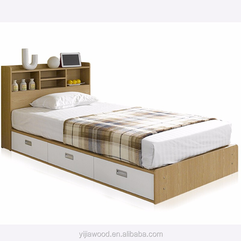 Cheapest Simple Single Bed E1 Particle Board Modern Wood