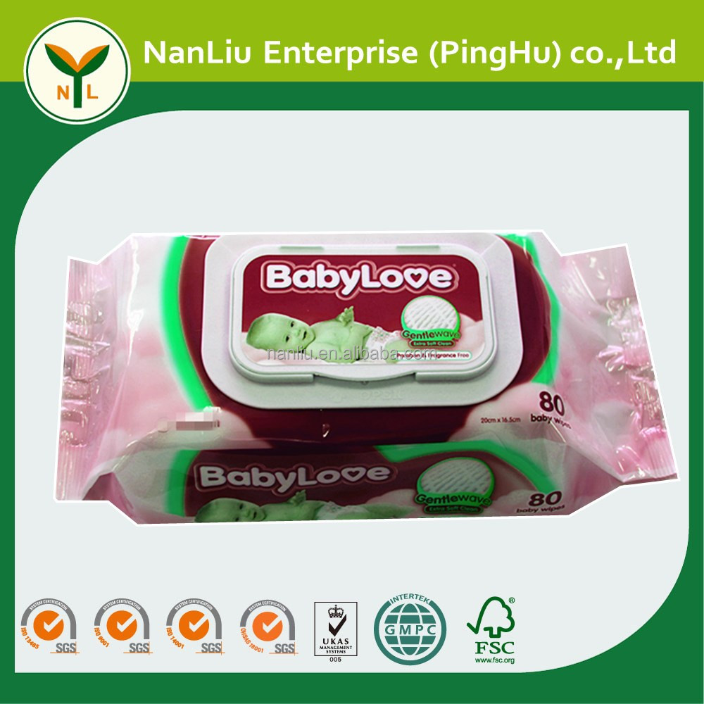 Fragrance Free Japanese Baby Disposable Wet Tissue Wipe 80P