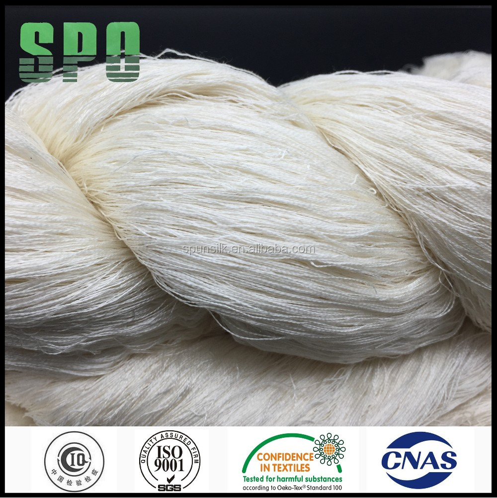SPO Undyed Silk Cotton Yarn 120Nm/2 In Hank For Muslim Scarf Weaving
