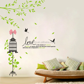 love is the emotion of romance wall stickers bedroom kitchen living
