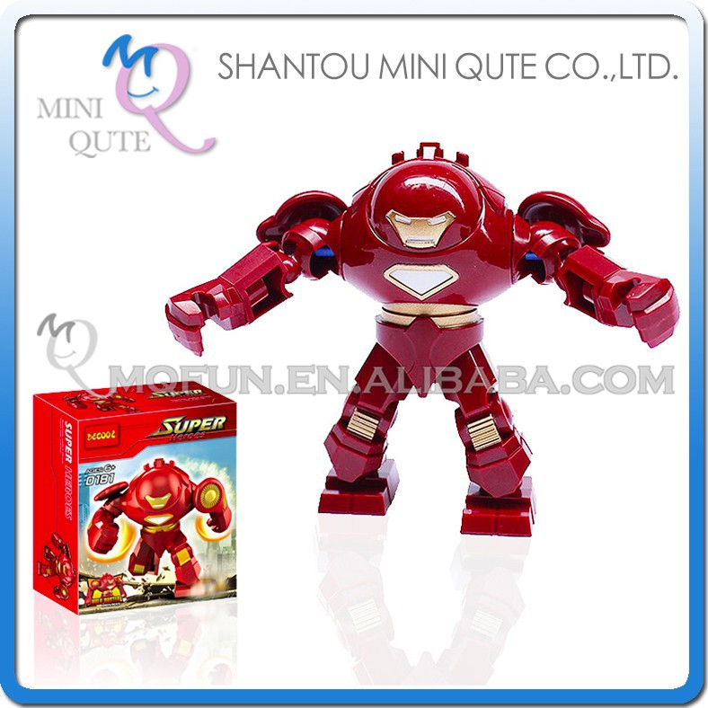 Mini Qute DECOOL Marvel Avenger super hero spiderman superman battle building block action figure educational toy NO.0181