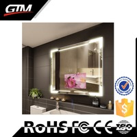 Customized floor stand media mirror advertising player mirror advertising shop sign board lcd panel smart mirror with wifi
