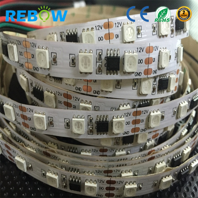 China supplier ws2811 smd 5050 programmable <strong>rgb</strong> led strip led <strong>rgb</strong> 12v 60leds 14.4W 20IC / m <strong>rgb</strong> led strip digital