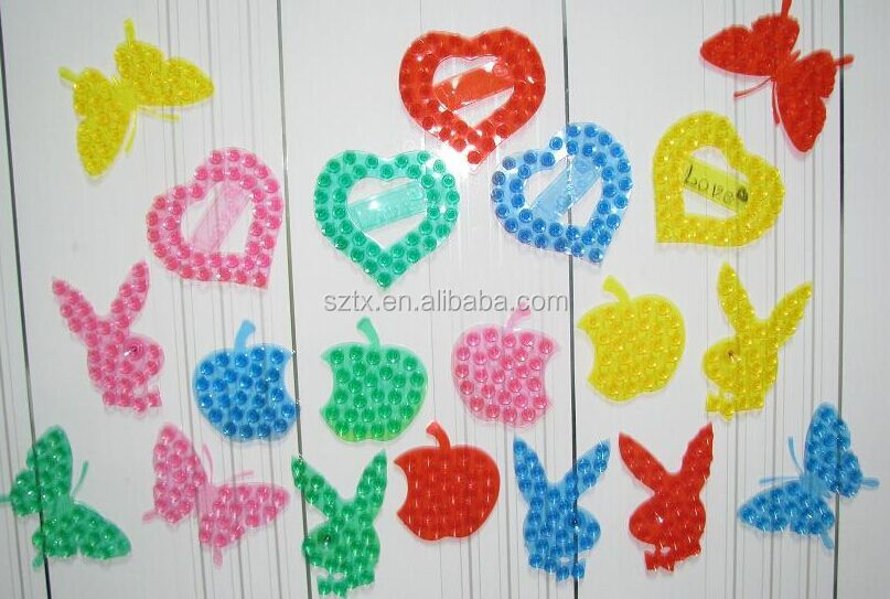 apple +rabbit + love +butterfly shape double sided suction cup for bathroom
