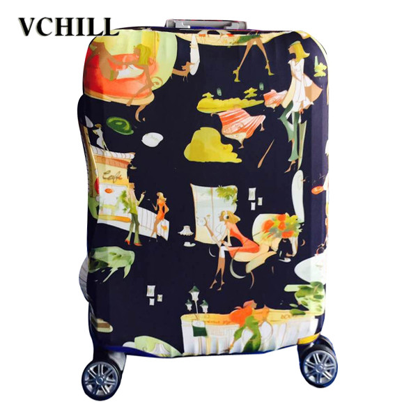 fashional protection travel plastic suitcase covers