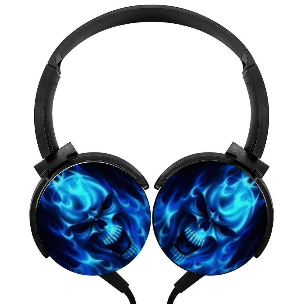 Xerjij Skull Karapanos Wired Stereo Headset Bass Headphones for Computers Mobile Devices